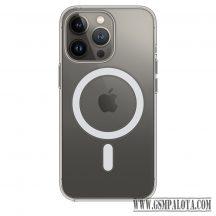 Apple iPhone13 Pro Szilikon Magsafe tok, Átlátszó