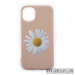 Premium szilikon tok, iPhone 11 Pro, Virág