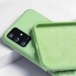Prémium szilikon tok , Samsung Galaxy A32 5G,zöld