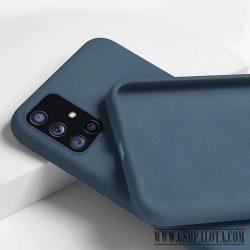 Premium szilikon tok, Samsung S21 Plus, Kék