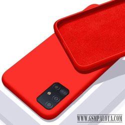 Premium szilikon tok, Samsung S21 Ultra, Piros