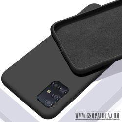 Premium szilikon tok, Samsung S20, Fekete