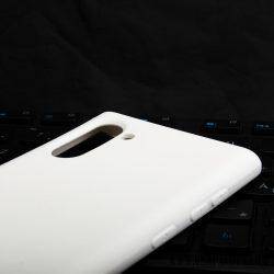Premium szilikon tok, Samsung Note 10, Fehér