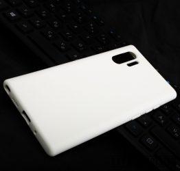 Premium szilikon tok, Samsung Note 10 Plus, Fehér