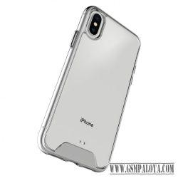 Ütésálló szilikon hátlap, iPhone X, Átlátszó