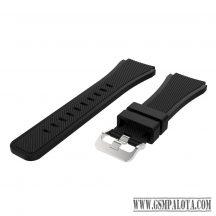 Samsung Gear S3/Watch szilikon óraszíj, 46 mm,Feke