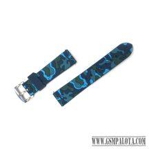 Samsung Gear S3/Watch szilikon óraszíj,46 mm,Terepmintás, Kék