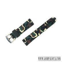 Samsung Gear S3/Watch szilikon óraszíj,46 mm,Terepmintás,Barna