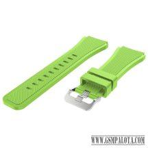 Samsung Gear S3/Watch szilikon óraszíj,46 mm, Zöld