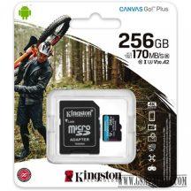Kingston 256GB Canvas Go Plus UHS-I U3 V30,mkártya