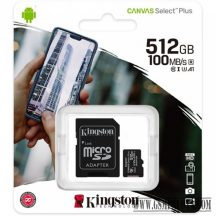 Kingston Canvas Select Plus MicroSDHC 512GB, C10