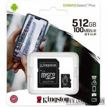 Kingston Canvas Select Plus MicroSDHC 512GB, C10