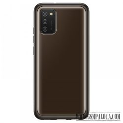 Samsung Galaxy A02s soft clear cover, Fekete