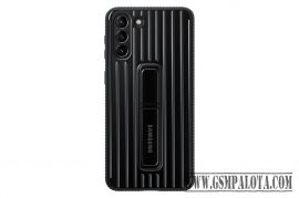 Galaxy S21 Plus Protective Standing cover, Fekete