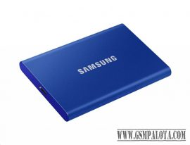 Samsung T7 hordozható SSD, 2TB, USB 3.2,Kék