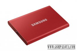 Samsung T7 hordozható SSD,2TB, USB 3.2,Metál Piros