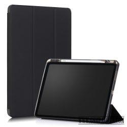 Apple iPad 12.9 2020 tablet tok toll tartóval,Feke