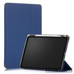 Apple iPad 12.9 2020 tablet tok toll tartóval, Kék