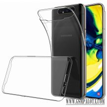 Samsung Galaxy A80 vékony szilikon hátlap,Átlátszó